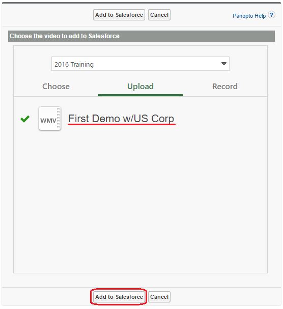 How to Add Panopto Videos to Salesforce