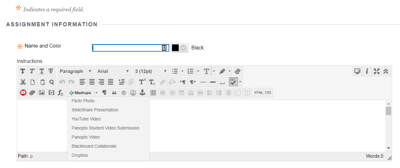 How to Create a Video Assignment in Blackboard
